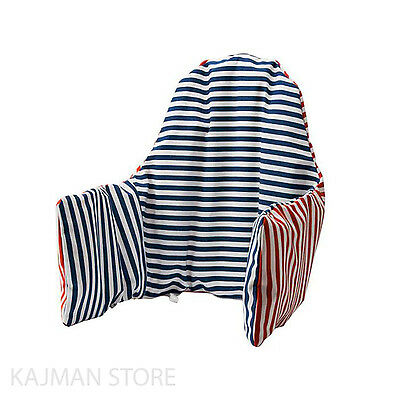 Supporting Cushion & Cover for High Chair Red & Blue Kids GENUINE IKEA PYTTIG