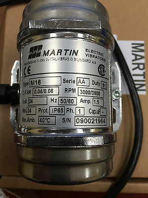24VAC Micro Vibrator Martin M16 from 3.3 to 13.2 adjustable centrifugal force