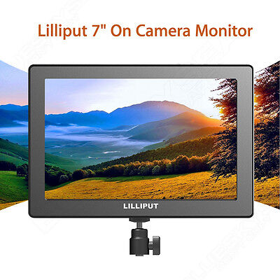 """Pro LILLIPUT 7"""" IPS 1920x1200 Video Monitor HDMI /Battery For DSLR Camera 5D II"""