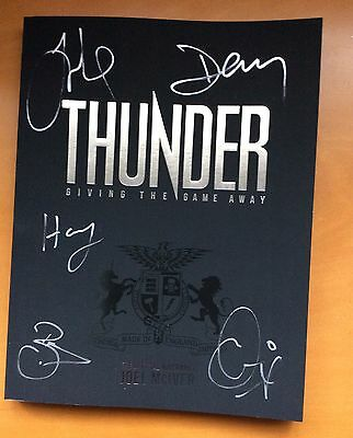 Joel McIver: Thunder - Giving The Game Away. Fully Signed First Edition Book