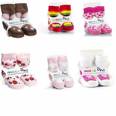 Girls Mocc ons/ Slippers 6-12M/ 12-18M/ 18-24M/2-3- Various Designs Available!