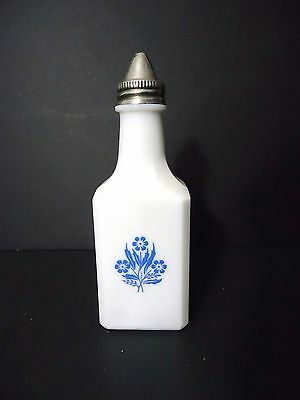 Vintage Vinegar bottle with Blue Cornflowers, much like the corning ware design