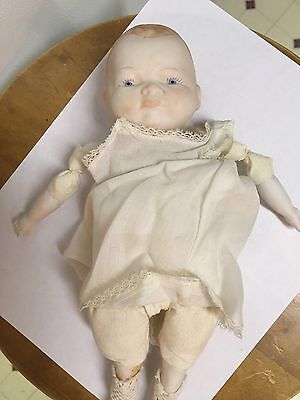 vintage Bisque Small Doll I Think It's A Boy Marked Japan On Back 11 Inches