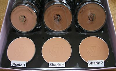 W7 Luxury Pressed Powder Compact - 3 Shades to Choose From - Light, Med, Dark