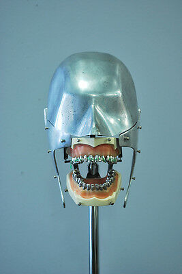 Columbia Dentoform Aluminum Dental Manikin with Vintage Typodont on Stand