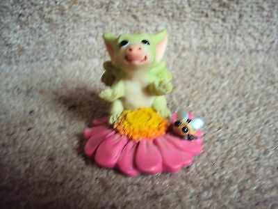 """Whimsical World P0CKET DRAGONS  """" STOP AND SMELL THE FLOWER """"  RETIRED 2006"""