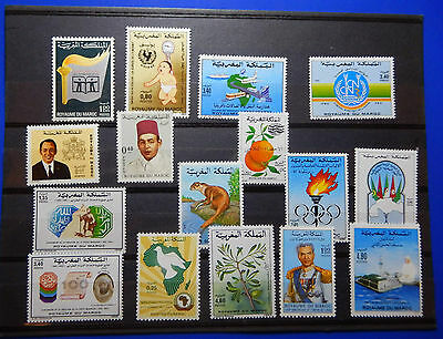 Maroc Marruecos Marokko Lot 16 Timbres Neufs Mnh Differents