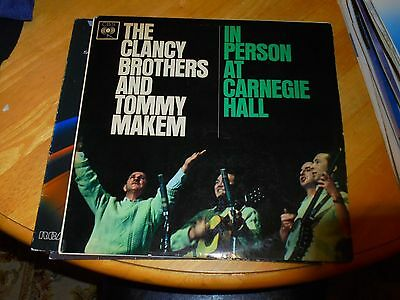 Lp/ The Clancy Brothers & Tommy Makem /in Person At Carnegie Hall (1963 Uk Cbs M