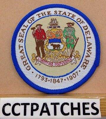 Great Seal Of The State Of Delaware Souvenir Patch