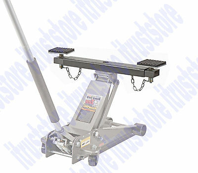 Steel Cross Beam Saddle Stable Bar Adaptor for Floor Jack Lift Stabilizer
