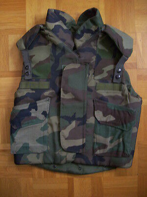 Us Army Xl Kevlar Body Weste Pasgt Woodland Flak Vest Armor Special Forces Bdu
