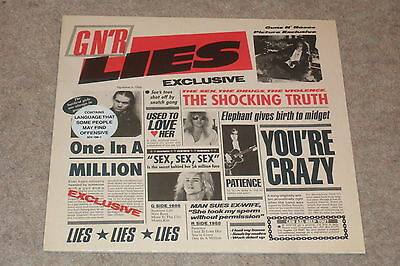 Guns N' Roses ‎– G N' R Lies LP       1988     NEAR MINT!!