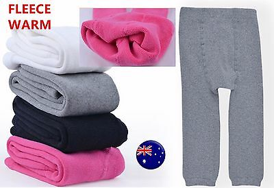 Girl Baby Kid WINTER Warm Thermal Fleece Bottoms Pants Tights Leggings Stocking