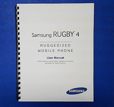 Samsung Rugby 4 Ruggedized Phone User Manual (AT&T, Model SM-B780A)