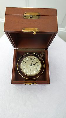 Marine Chronometer Waltham 8-Day - Watch Clock Marine Clock Deckwatch