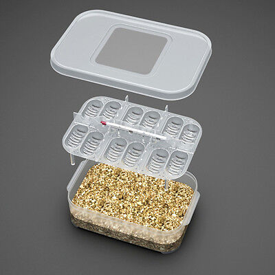 12 Reptile Eggs Incubator Tray &Gecko Lizard Snake Bird Eggs Hatcher Thermometer