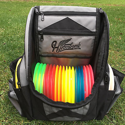 Wingz Disc Golf * Brand New Millenium Hyzerbomb FlakX Backpack 25+ discs * GRAY
