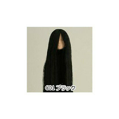 Obitsu Doll 27cm hair implantation head for natural body (27HD-F01NC01) BLK