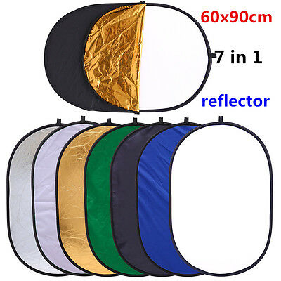 CY 24x35in 60x90cm 7in1 Portable Multi Photo Ellipse Collapsible Light Reflector