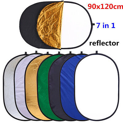 "CY Ellipse Light Reflector 35x47""/90 *120cm 7 in 1 Multi Collapsible Photography"