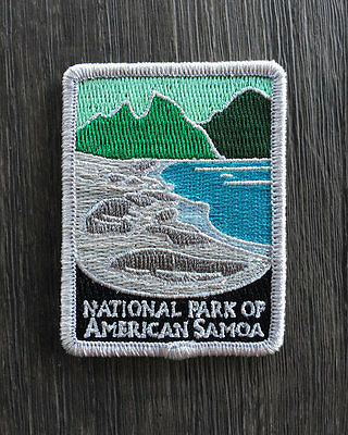 National Park of American Samoa Souvenir Patch Traveler Series Iron-on