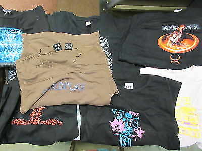 NEW - 10x DIFF. WHOLESALE GIRLS COLDPLAY MADONNA KORN A7X T-SHIRT ASSORTED SIZE