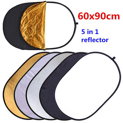 CY 60x90cm 24''x35'' Multi Collapsible 5 in 1 Reflector Oval Photography Studio