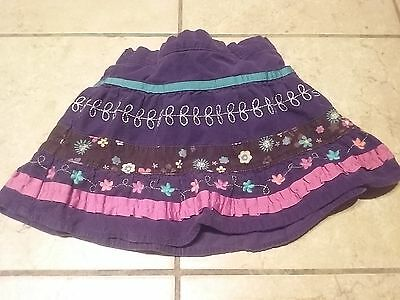 The Children's Place Girls Purple Floral Skirt Size 24 Months