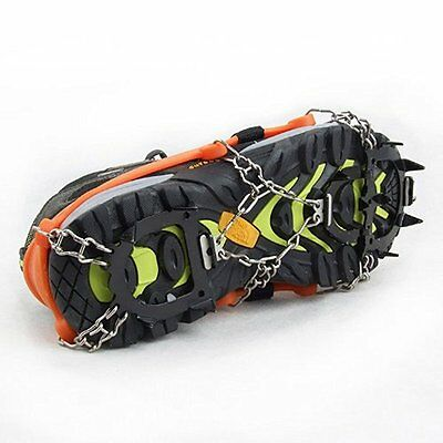 12-Stud Universal Ice No Slip Snow Shoe Spikes Grips Cleats Quality Crampons New