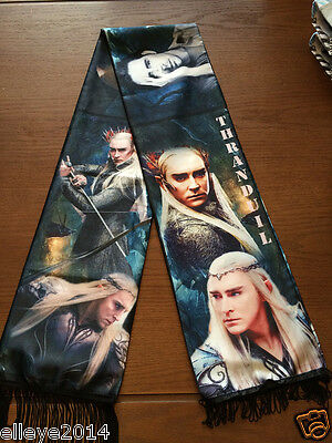 Thranduil Lee Pace The Hobbit Wrap Muffler Cosplay Costume Shawl Tasseled Scarf