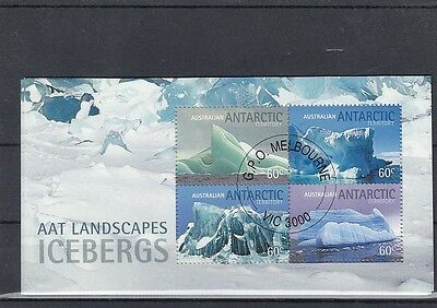 Australia AAT 2013 Landscapes Icebergs Antarctic Territory MS CTO as shown