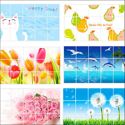 Fashion Aluminum Foil Decals Oil proof Stickers Keep Decor Kitchen Wall Paper