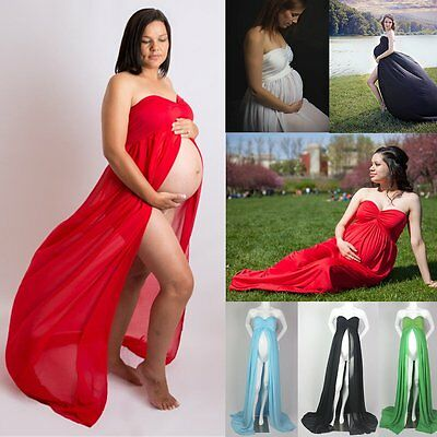 Pregnant Women Long Dresses Chiffon Maternity Gown Photography Props Clothing