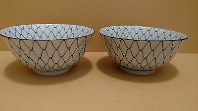 Pair of Large Japanese Rice/Noodle Bowls