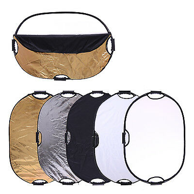 CY Photography Light 5 in1 Collapsible Portable Photo Oval Reflector 90x120cm