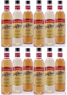 12 x Davinci Syrup 750ml Choose Your flavours (Caramel, Vanilla, Hazelnut &More)