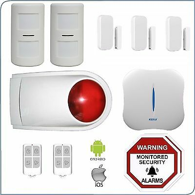 Pet Friendly Wireless Home Security Wifi+PSTN DIY House Alarm System Android IOS