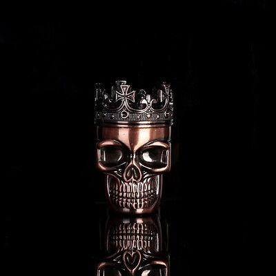 Bullet Shape King Skull Herbal Herb Tobacco Grinder Smoke Grinders Crusher Metal