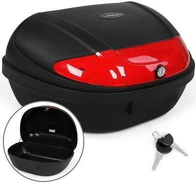 40L Matte-Black Motorcycle Top Box with Lock and Key Sturdy