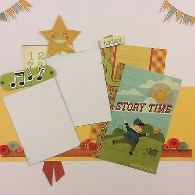 handmade scrapbook page 12 X 12 Story Time Themed Layout