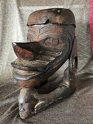 Old Papua New Guinea Solomon Islands Carved Hardwood Stool / Table