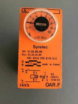 SYRELEC 	OAR.F	On delay Timer 0 - 100s 24VAC/DC SPDT contact