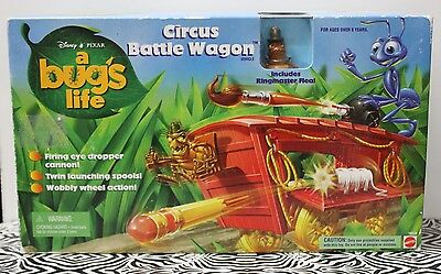 A BUG'S LIFE CIRCUS BATTLE WAGON Ringmaster Flea NEW