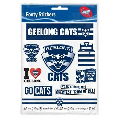 Geelong Cats Official AFL Logo Sticker Sheet Free Postage