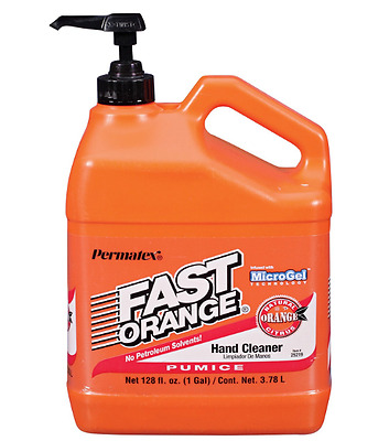 Permatex Waterless Hand Cleaner Fast Orange Hand Cleaner 1 Gallon Grease Remover