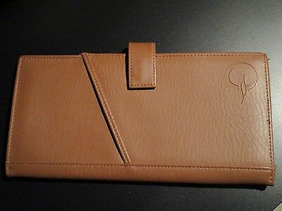 OCEANIA Cruise Lines travel document holder wallet leather organizer brown kti
