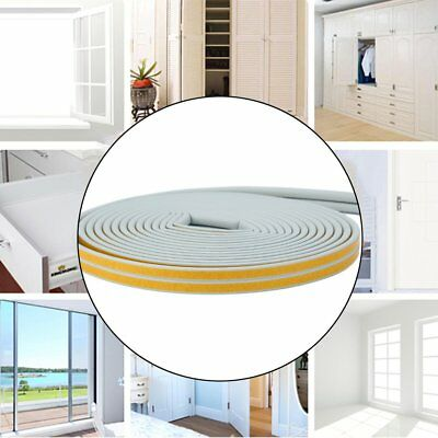 12m Foam Draught Excluder D Type Seal Strip Insulation for Door Window New OT