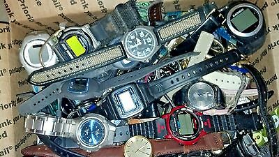 Large assorted watch lot 7 casio,garmin,fossil,relic,guess,seiko,calvin klein