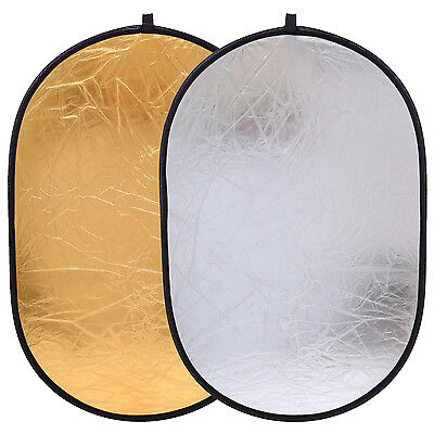 CY 90x120cm Photo Studio Light Reflector Multi 2in1 Collapsible Portable Disc