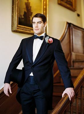 New Bespoke Men Wedding Groom Tuxedos Formal One Button Best Man Morning Suits